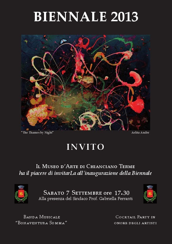 Al via la Biennale d'Arte a Chianciano Terme
