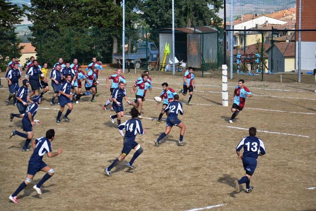 Rugby Clanis stravince contro Gambassi, 50 a 5