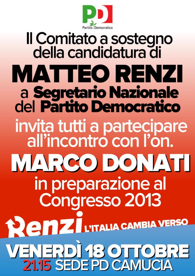 Cortona, comitato per Renzi: primo incontro