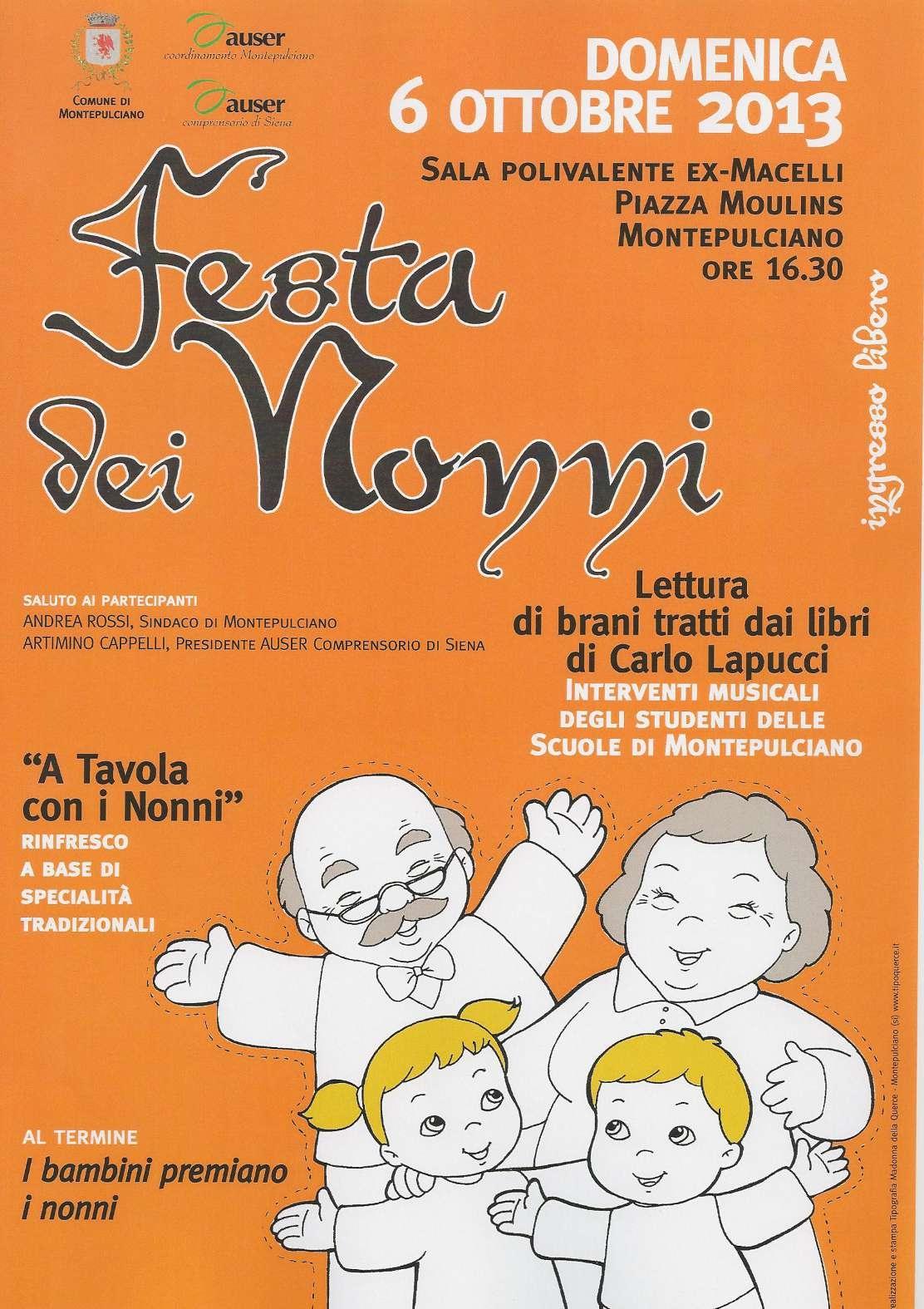 Torna a Montepulciano la Festa dei Nonni