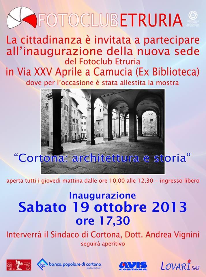 Nuova sede per il Fotoclub Etruria: sabato l'inaugurazione