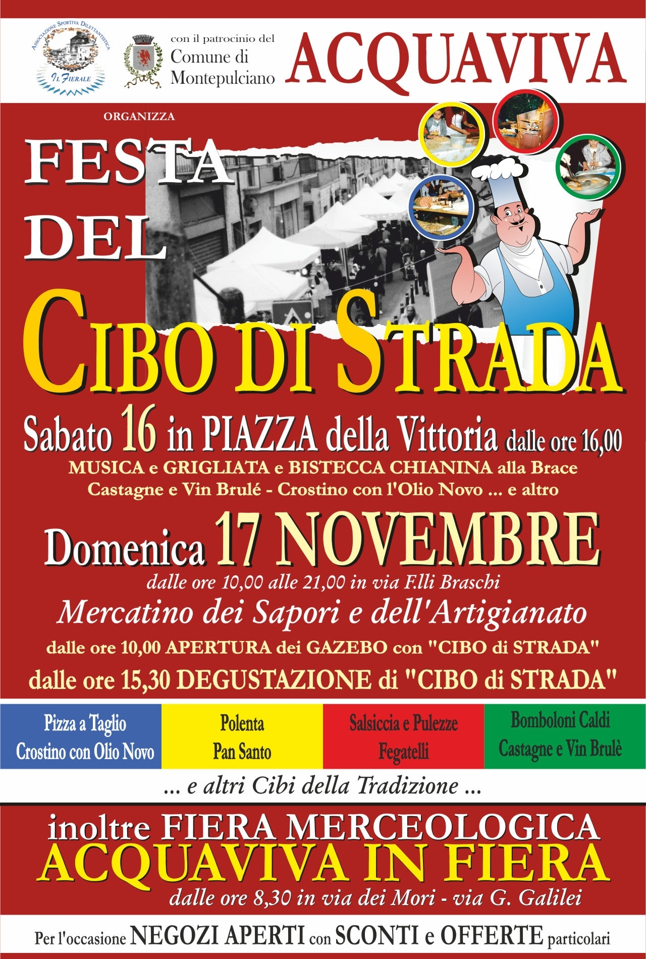 Ad Acquaviva di Montepulciano la festa del Cibo di Strada