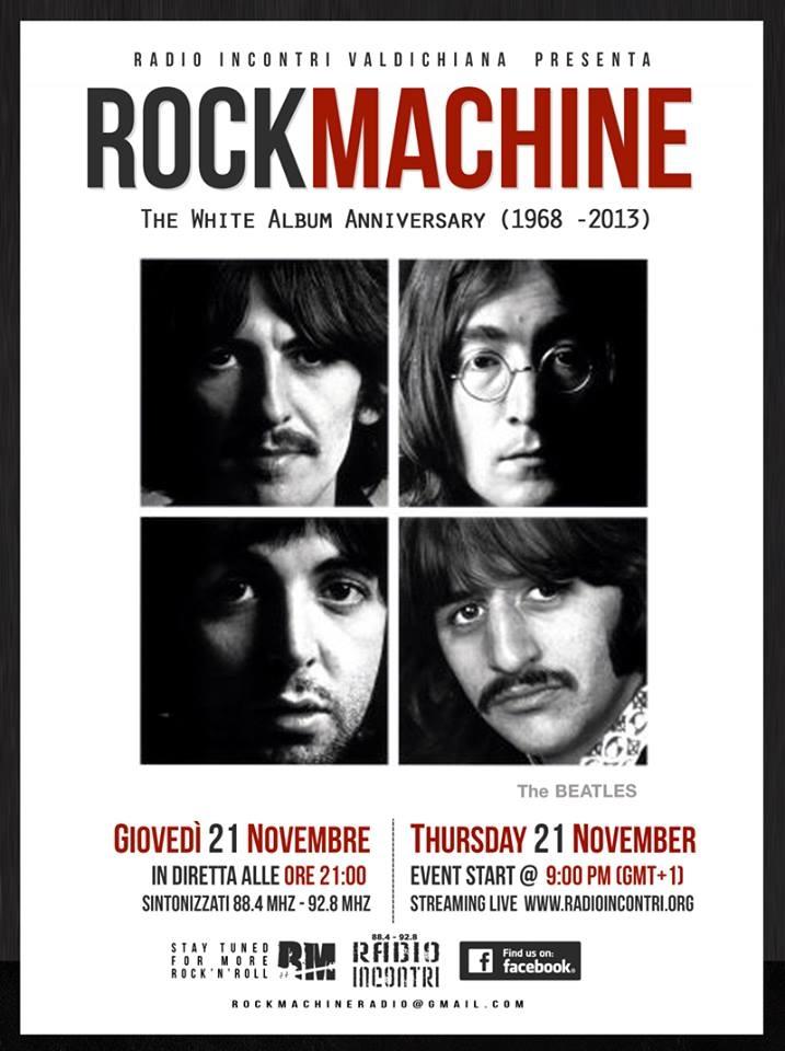 Torna Rock Machine: special sul White Album dei Beatles
