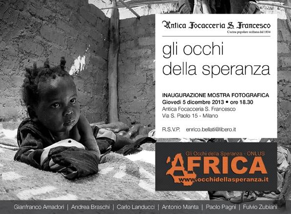 'Occhi della speranza' in trasferta a Milano: mostra-reportage sull'Africa