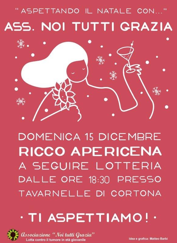 Noi tutti Grazia fa il punto sulle tante iniziative e invita tutti all'Apericena del 15 Dicembre