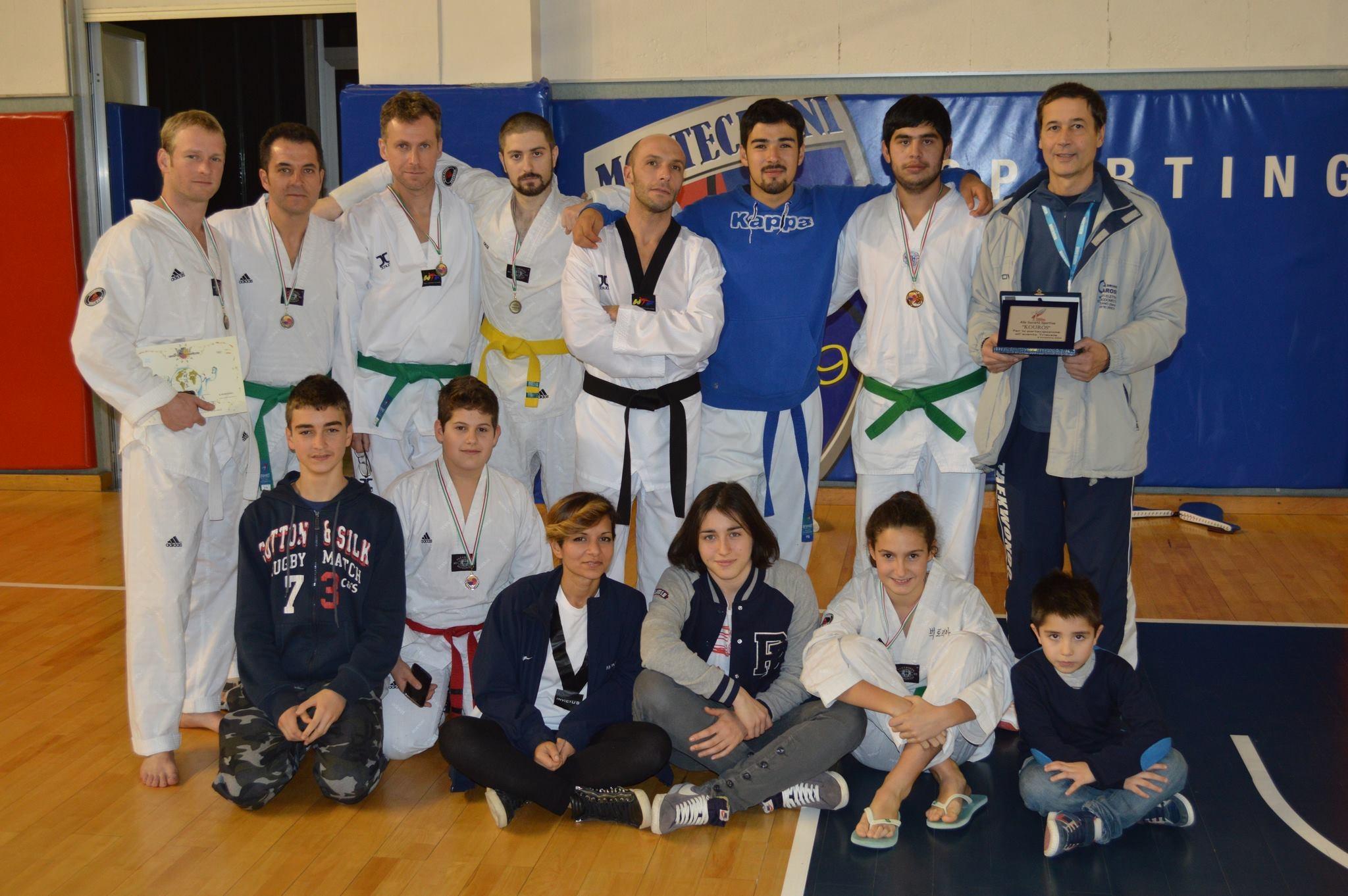 Kouros Taekwondo ben figura all'Evento Triscele