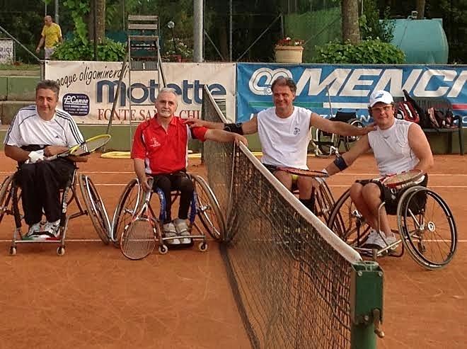 Tennis in carrozzina, primo torneo nazionale al Fontesecca