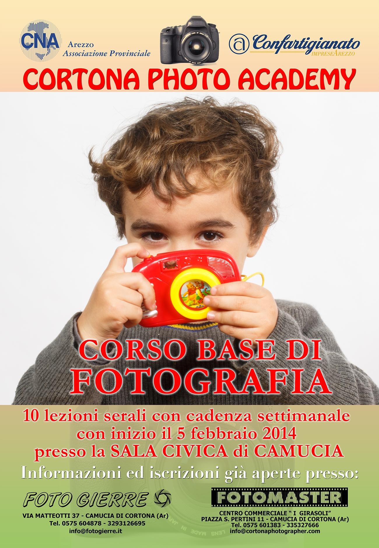 Corso base di fotografia di Cortona Photo Academy, iscrizioni aperte