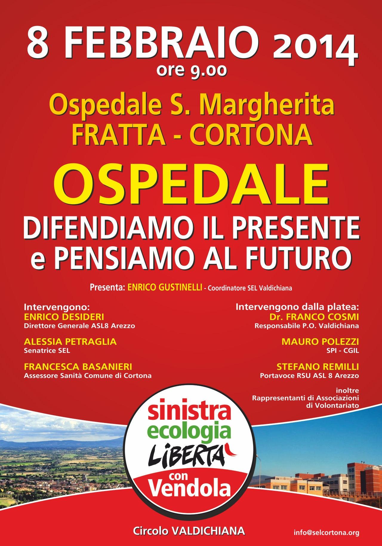 Ospedale di Fratta, difendere il presente e pensare il futuro. Incontro promosso da SEL