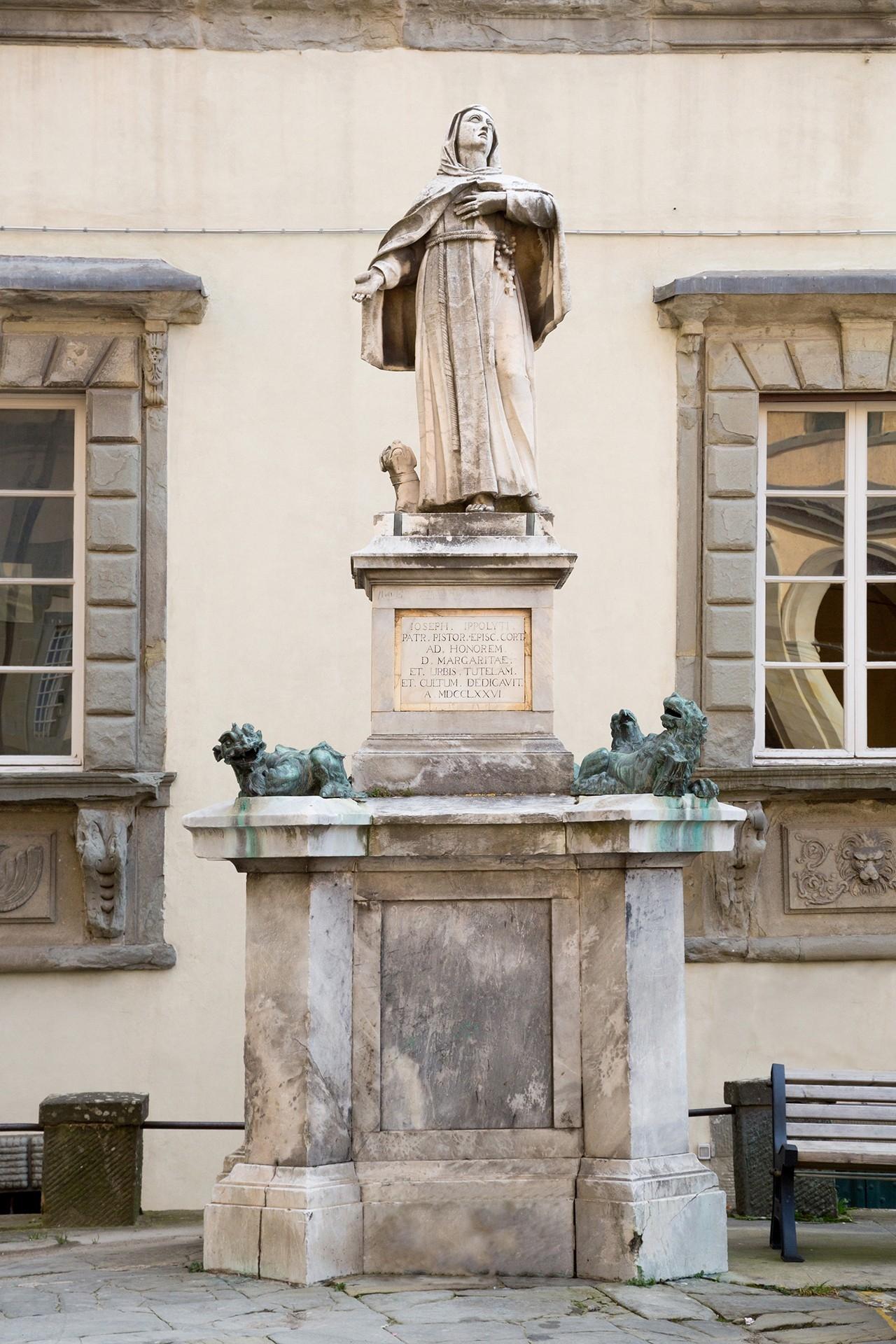 Cortona: parte il restauro per la statua di Santa Margherita