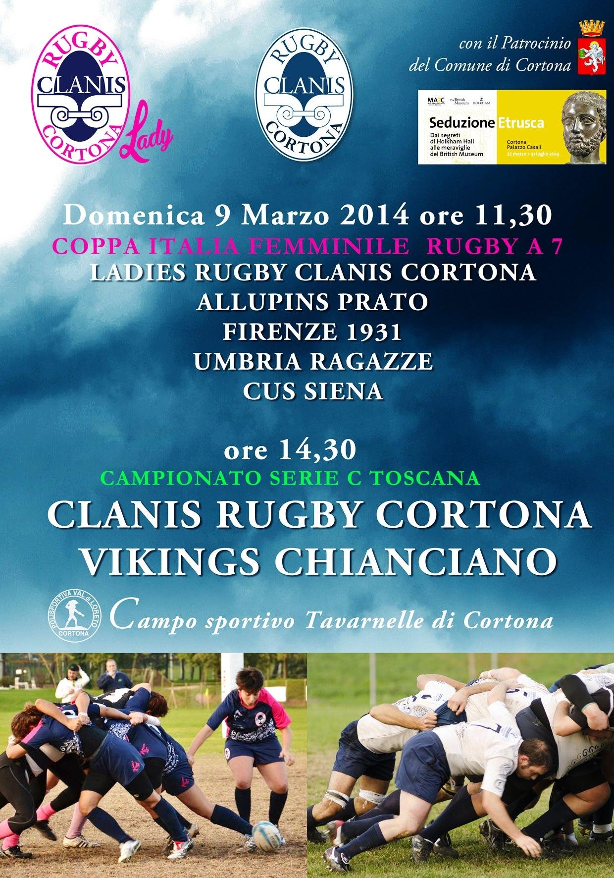 Una grande domenica di Rugby a Tavarnelle di Cortona con il Clanis