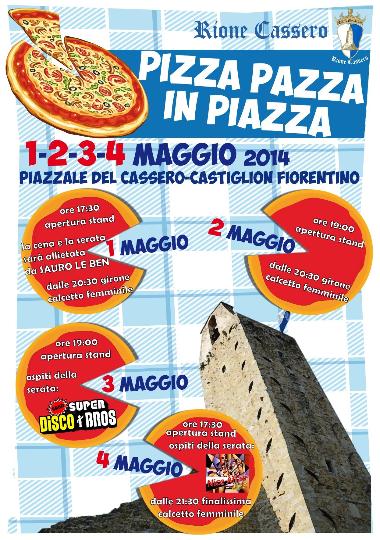 Pizza Pazza in Piazza: l'iniziativa del Rione Cassero