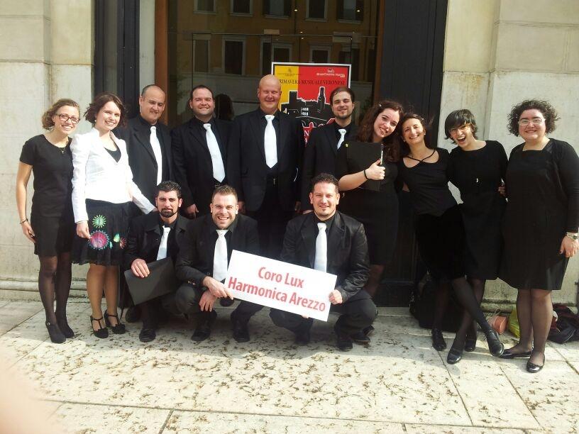 Il Coro Lux Harmonica di Monte San Savino trionfa a Verona