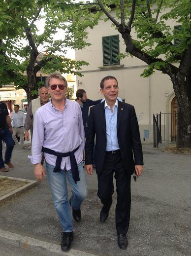 L'On. Parisi, Coordinatore Regionale di Forza Italia, a Cortona per sostenere Teodoro Manfreda