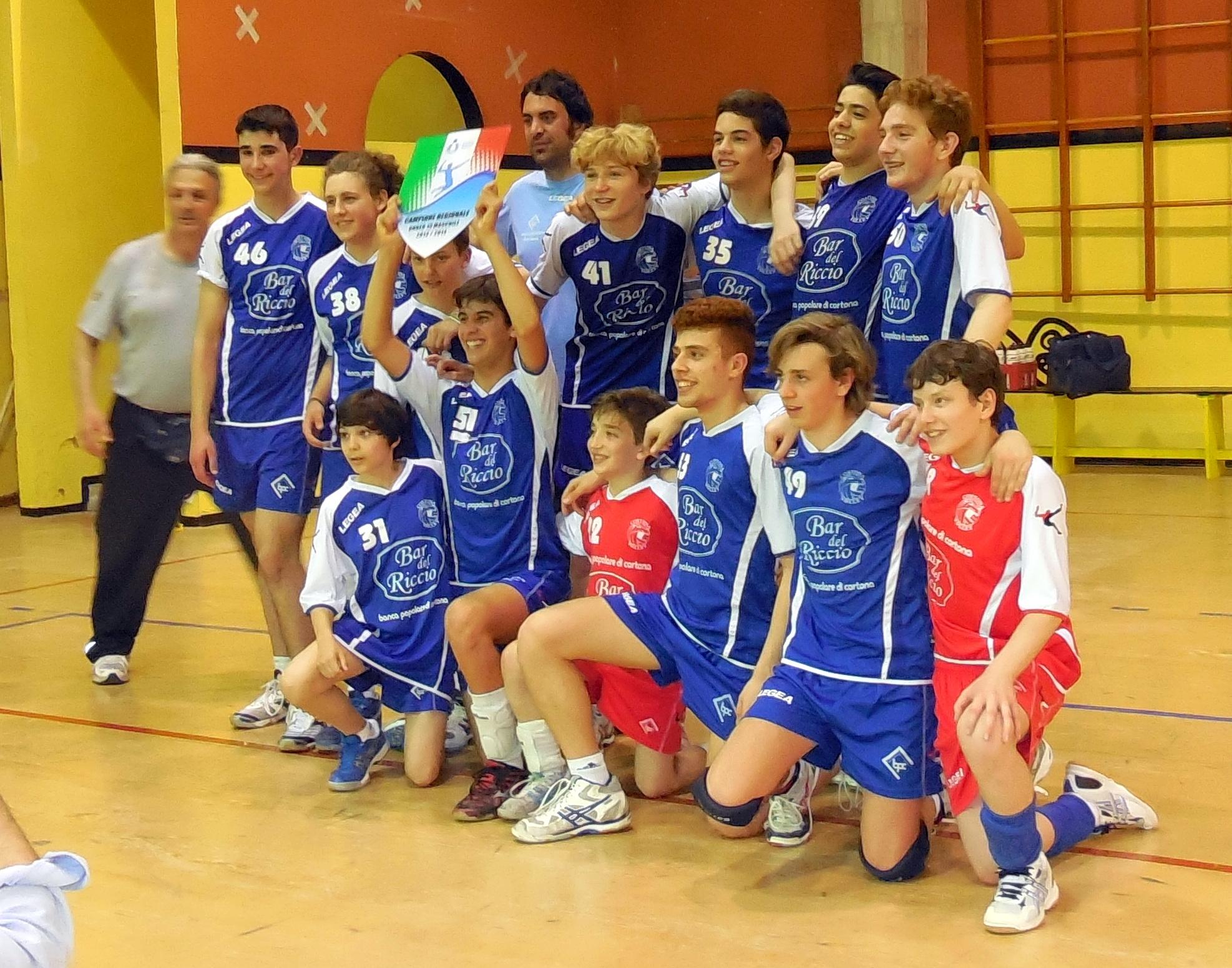 Anche l'Under 15 maschile del Cortona Volley è campione regionale