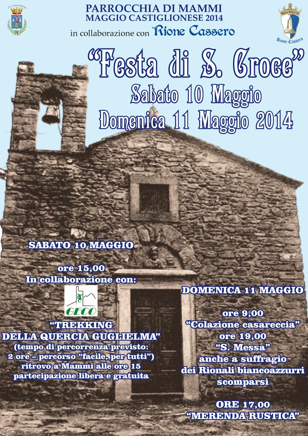 Festa di Santa Croce a Mammi in collaborazione col Rione Cassero