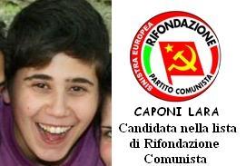 Lara Caponi candidati per Rifondazione a Cortona