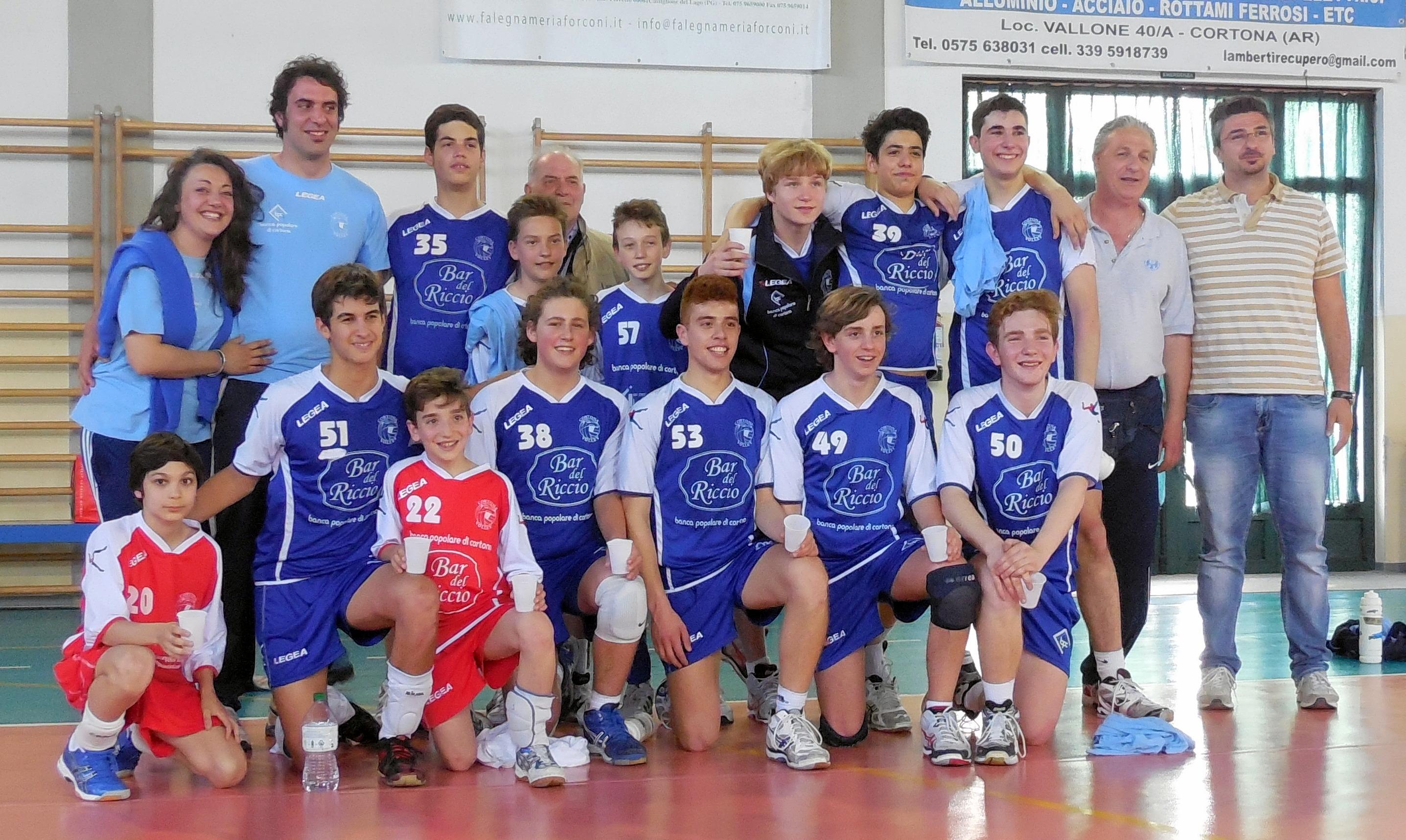 Scudetto Regionale per il Cortona Volley Under 15 maschile
