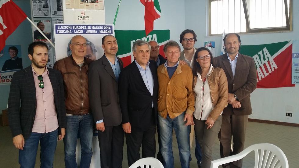 L'On. Tajani a sostegno del candidato a Sindaco Teodoro Manfreda