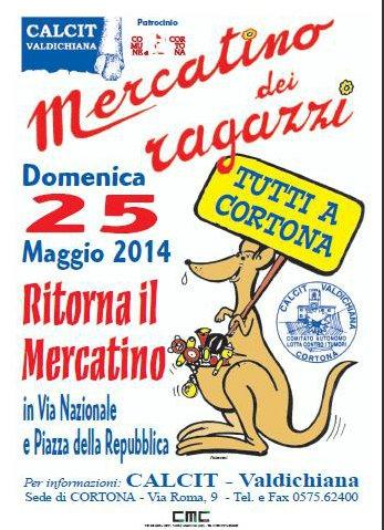 Domenica a Cortona torna il mercatino del Calcit