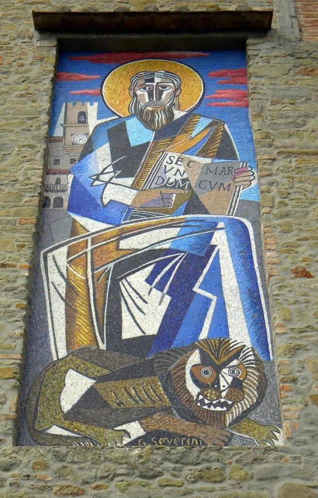 Cortona: restaurato il mosaico di Severini della Chiesa di San Marco