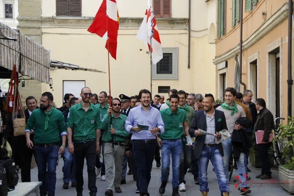 A Cortona il Segretario Federale di Lega Nord Matteo Salvini