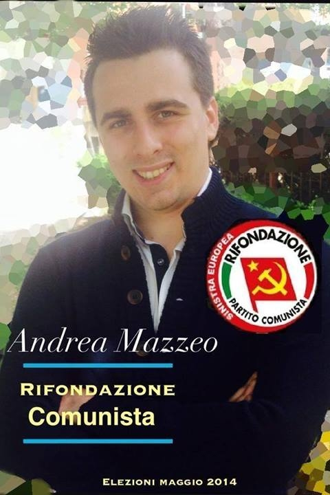 Il ringraziamento di Andrea Mazzeo agli elettori di Rifondazione Comunista