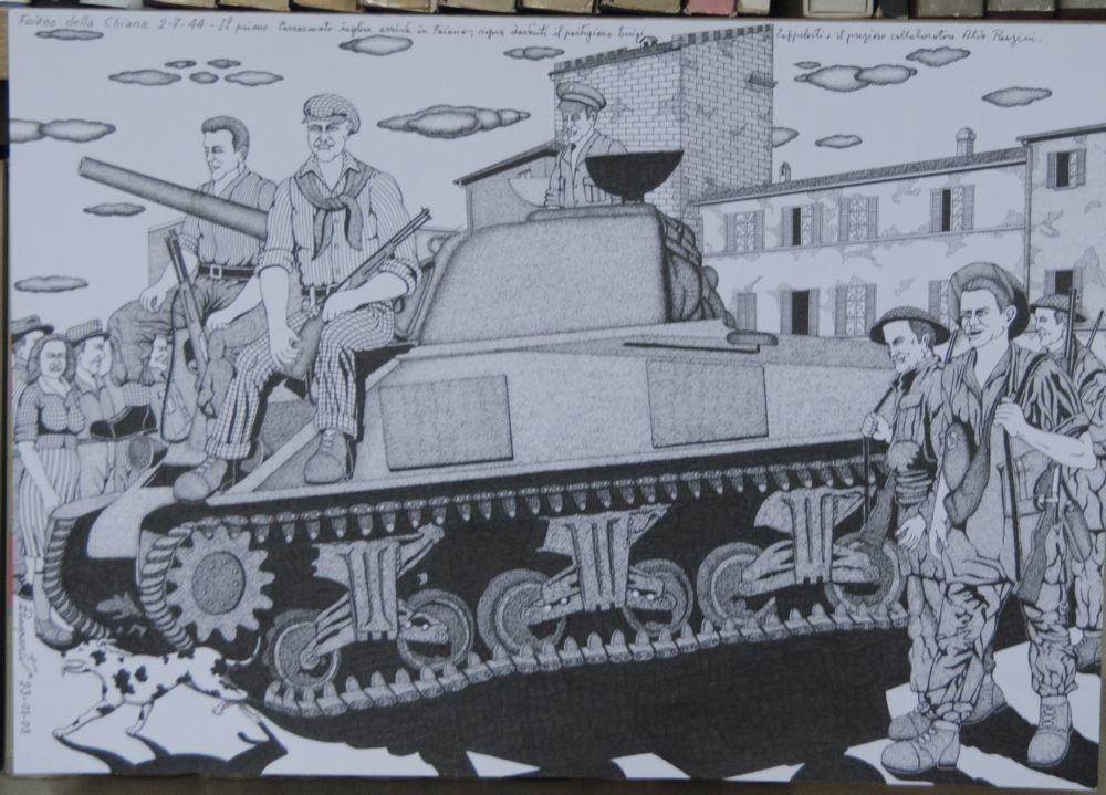 Lucignano: Omaggio alla Resistenza e a Nencetti con i disegni di Ezio Raspanti