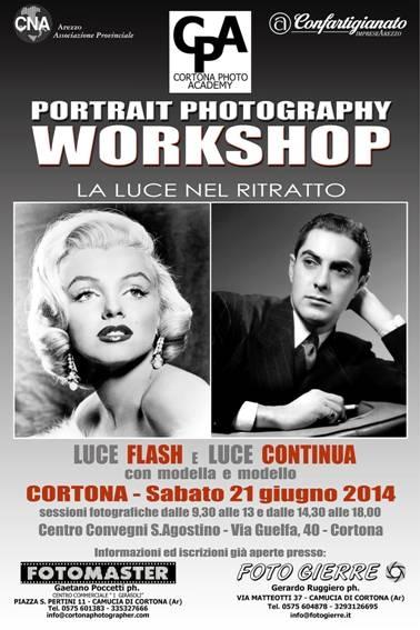 Workshop sul ritratto promosso da Cortona Photo Academy