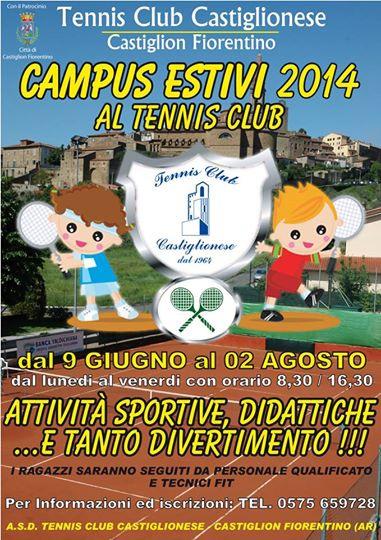 Tempo di campus al Tennis Club Castiglionese