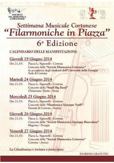 Filarmoniche in piazza: a Cortona la sesta edizione