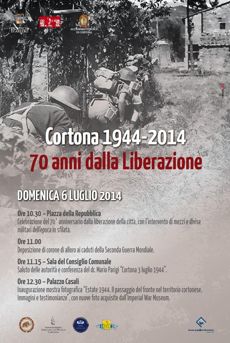 Cortona: iniziative per il 70esimo anniversario della Liberazione