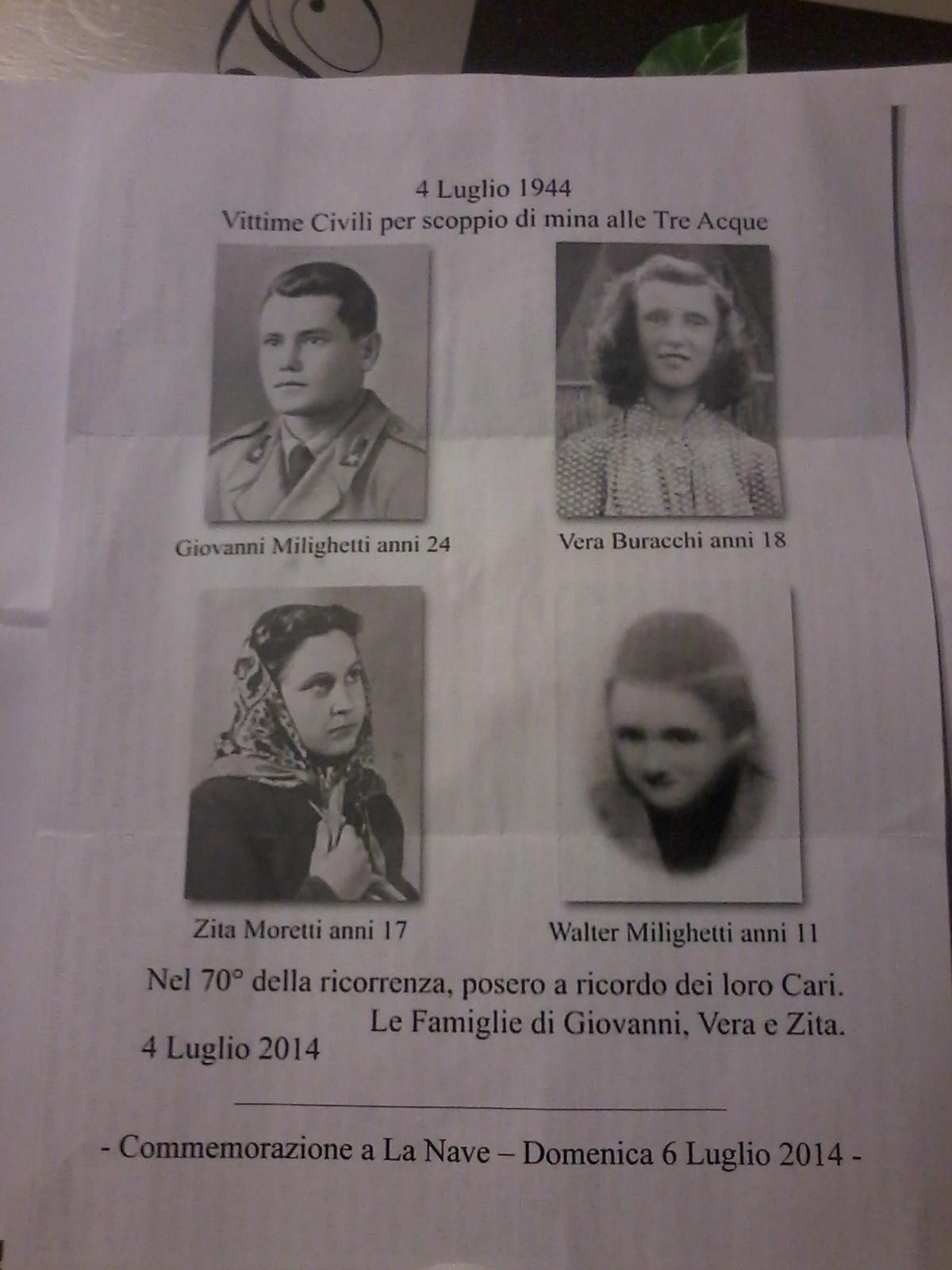 Ricordo dei caduti della Seconda Guerra Mondiale a Castiglion Fiorentino