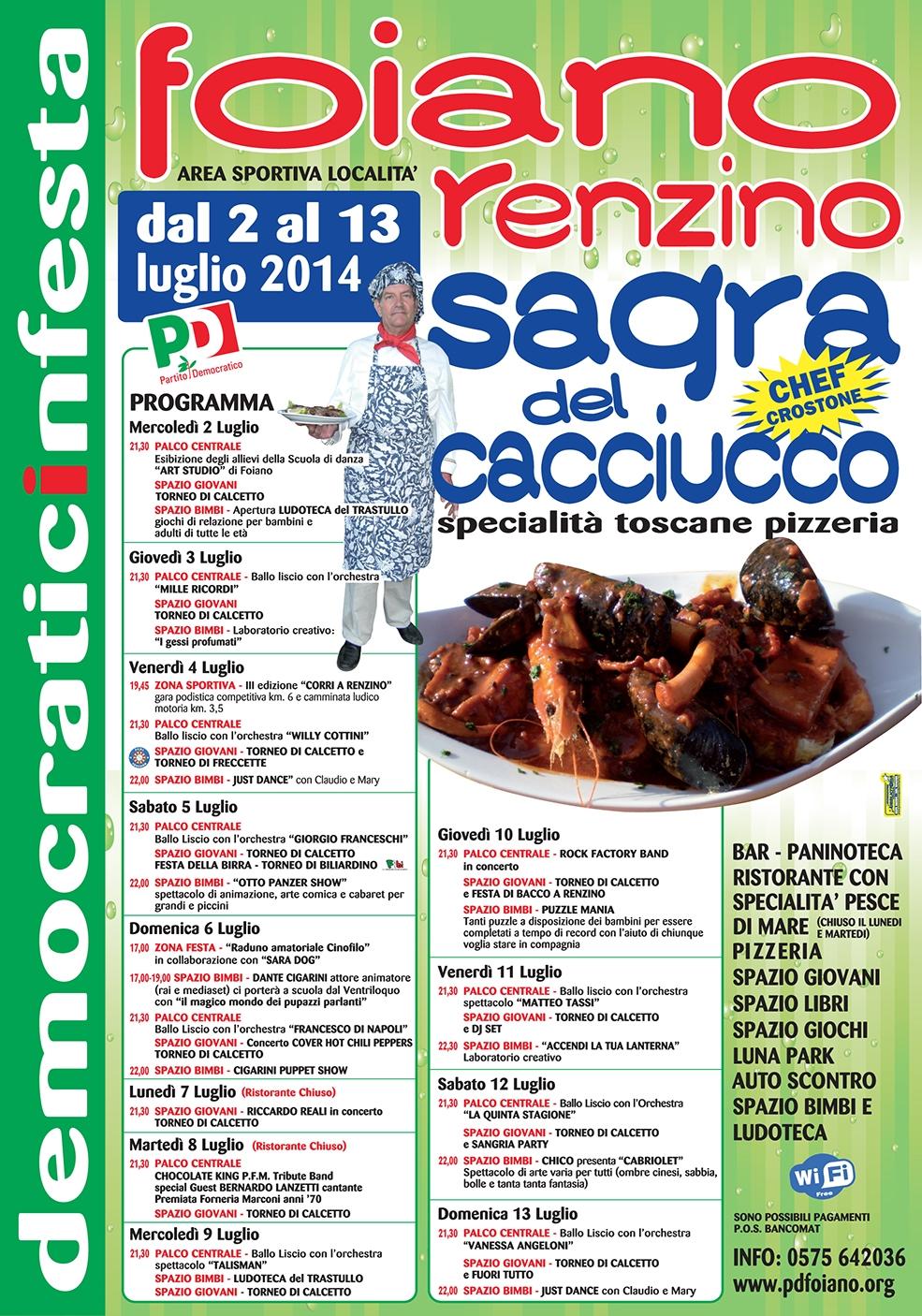Festa del PD a Renzino: il programma