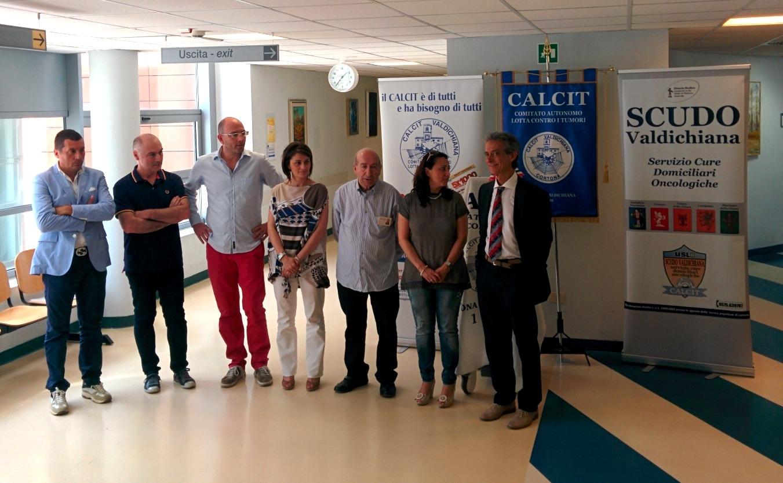 Un nuovo ecografo consegnato dal Calcit all'ospedale di Fratta