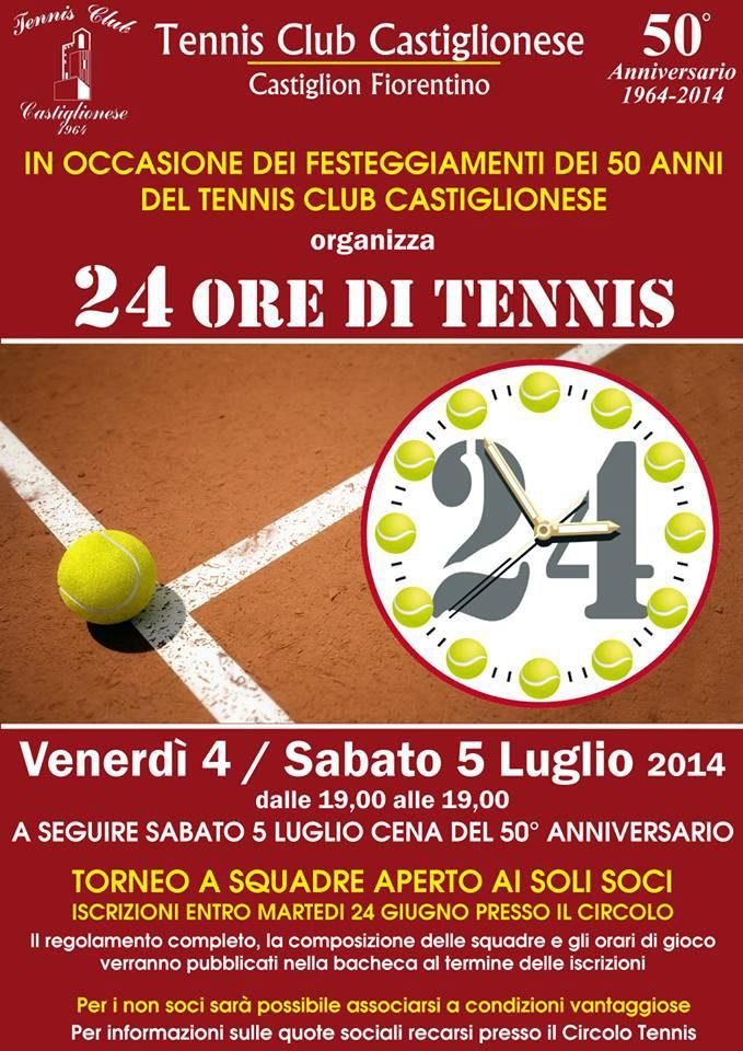 Il Circolo Tennis Castiglionese festeggia 50 anni