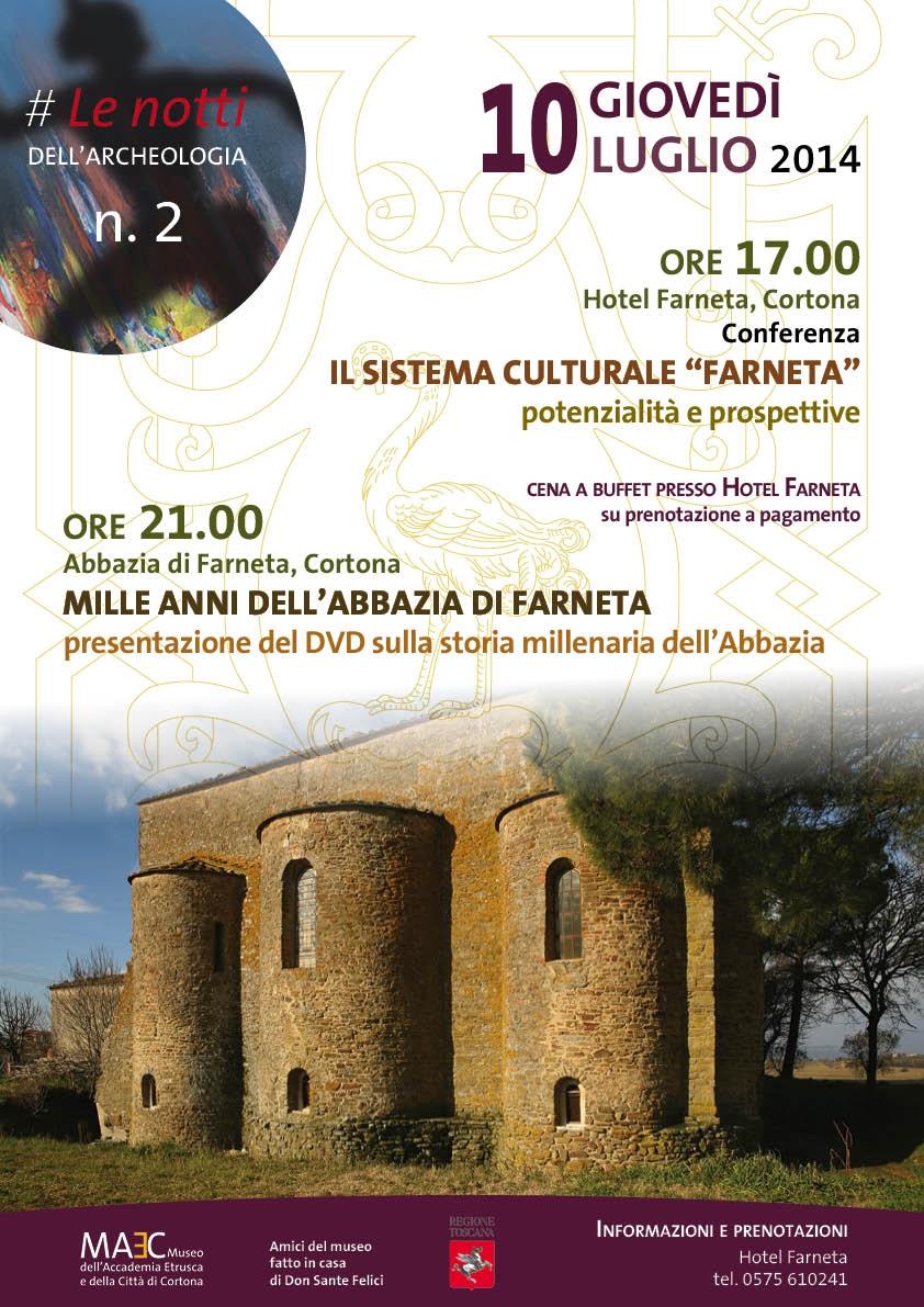 Mille anni dell'Abbazia di Farneta: una conferenza e la presentazione del DVD celebrativo