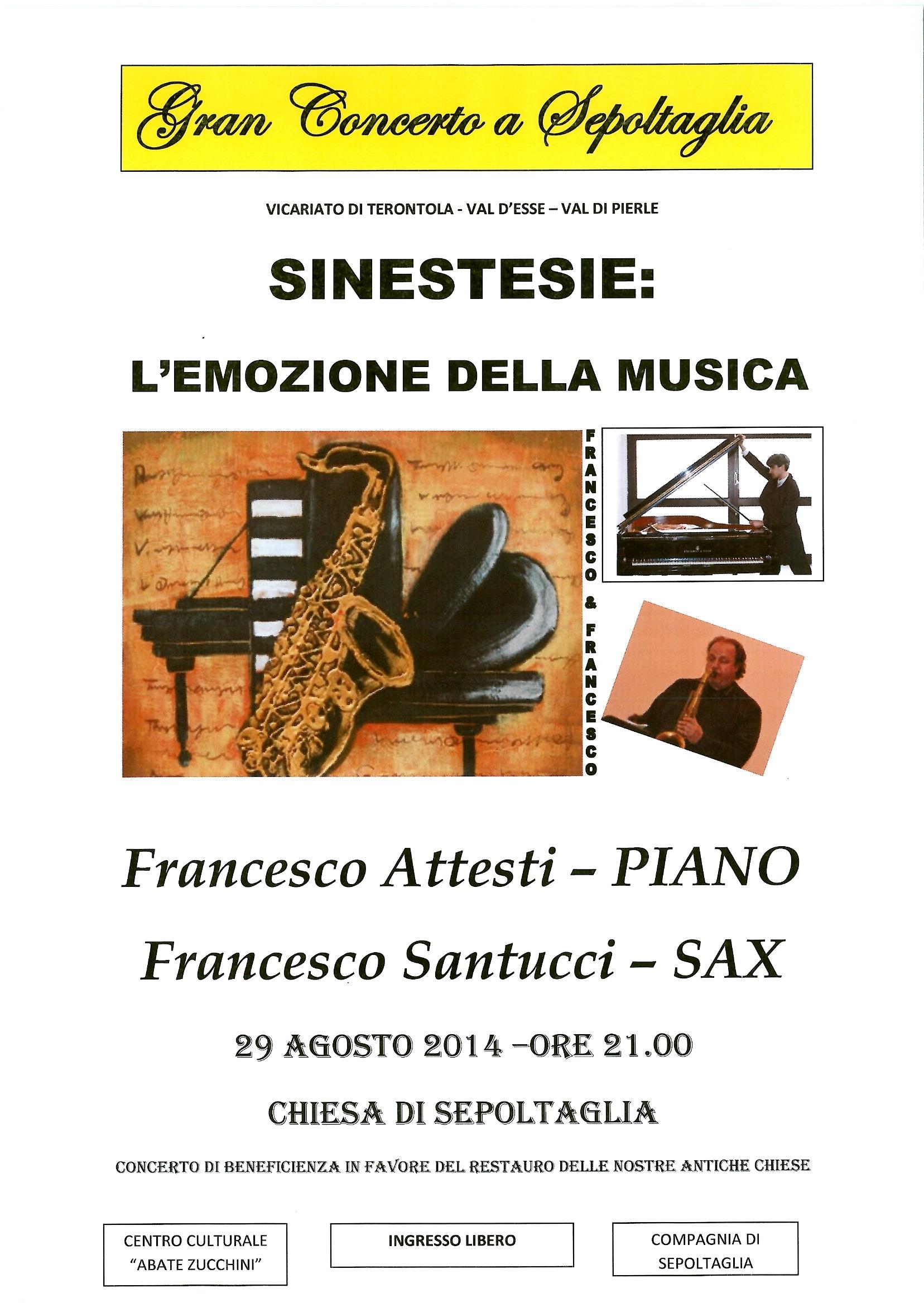 Attesti e Santucci in concerto alla Chiesa di Sepoltaglia