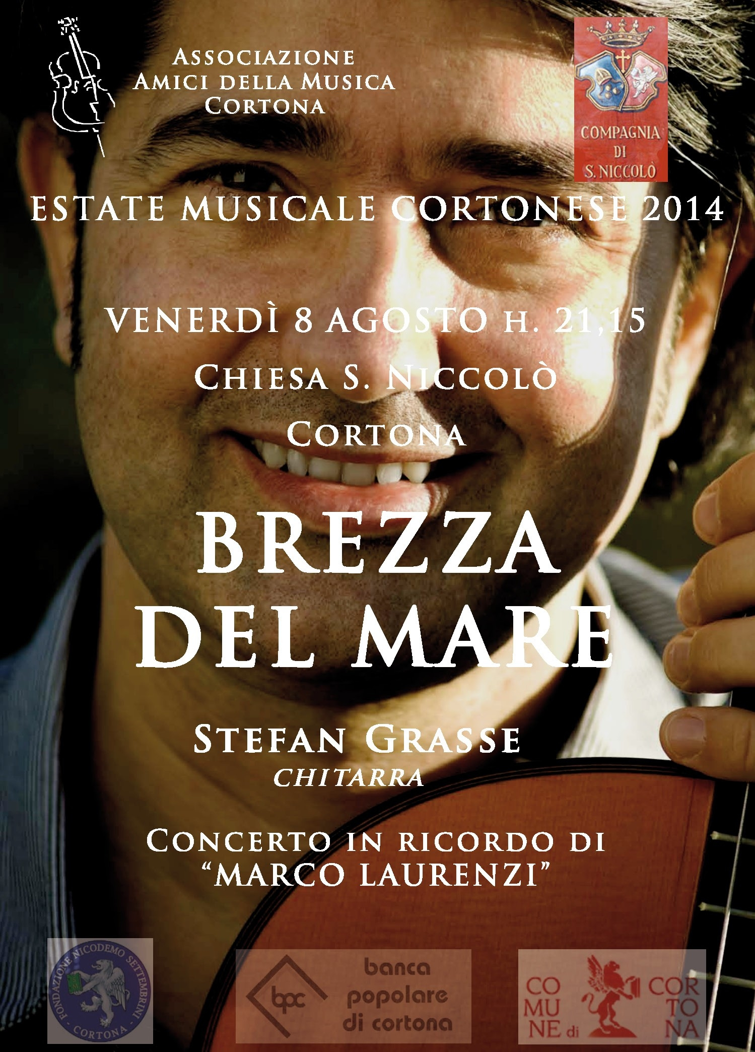 Estate Musicale Cortonese: appuntamento a San Niccolò col chitarrista Stefan Grasse