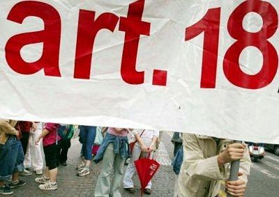 L'articolo 18 e il