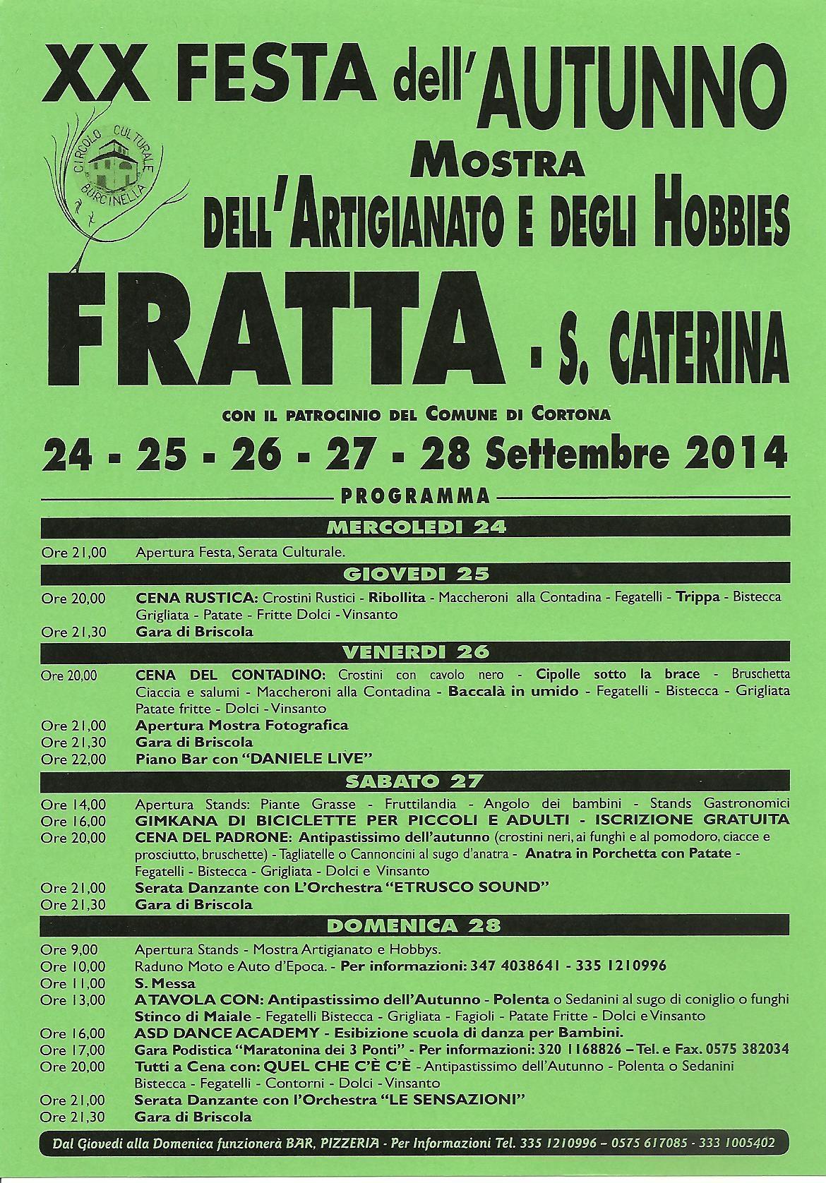 XX Festa dell'Autunno a Fratta di Cortona
