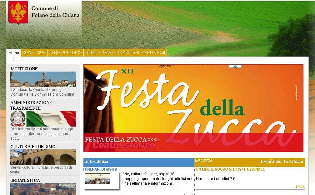 On line il nuovo sito istituzionale del Comune di Foiano