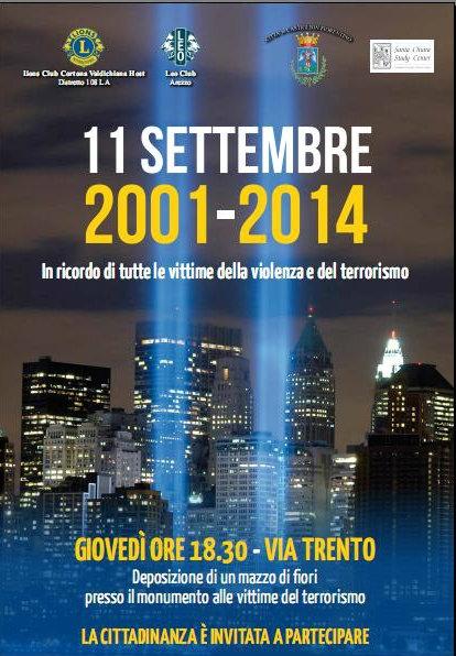 Per ricordare l'11 Settembre: evento promosso dal Lions Club a Castiglion Fiorentino