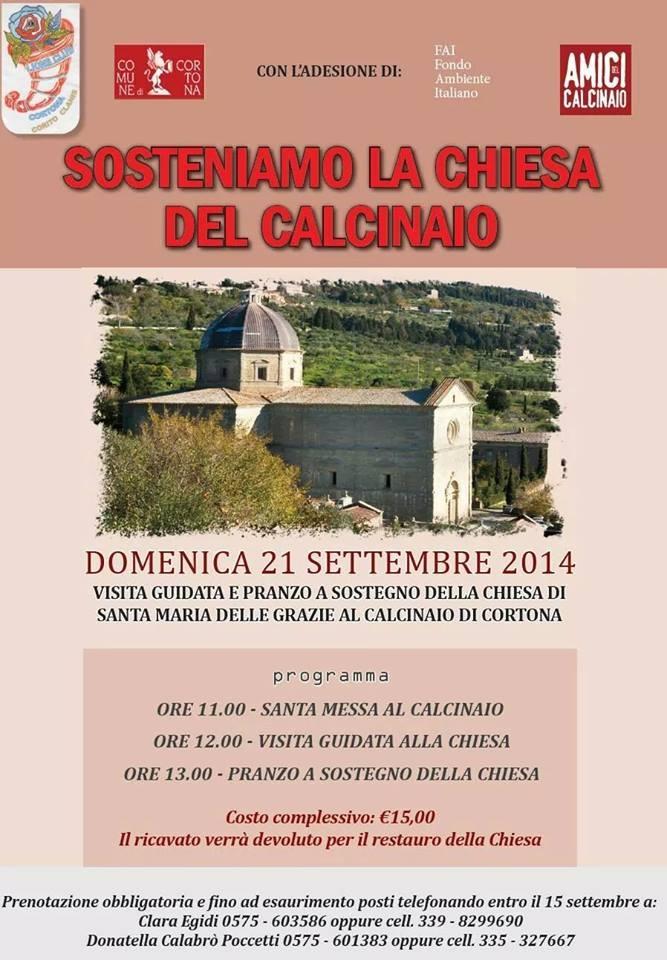 Cortona: una domenica dedicata alla Chiesa del Calcinaio