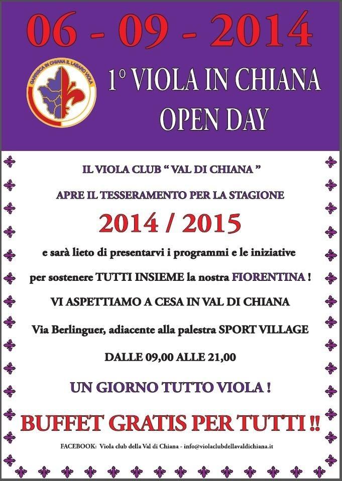 Al via la nuova stagione del Viola Club Valdichiana
