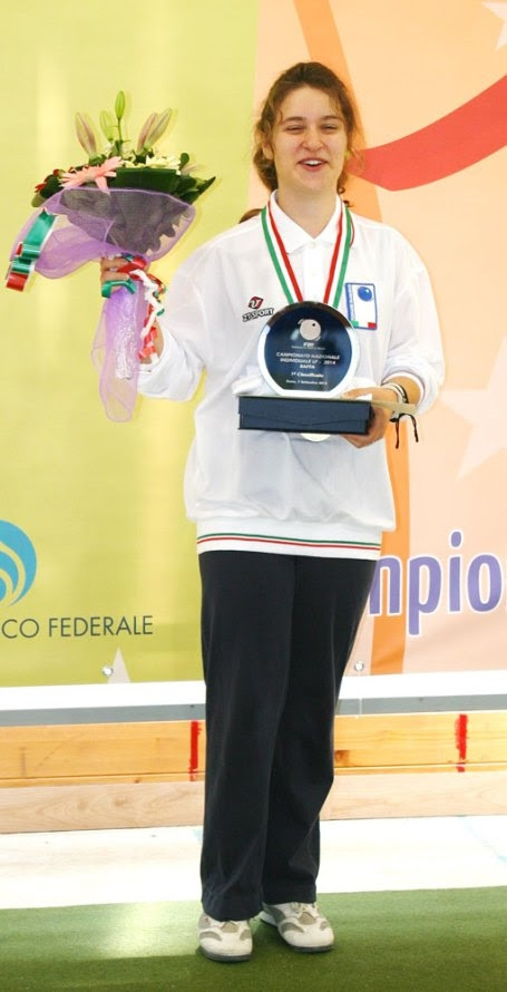 La cortonese Elisa Fanicchi campionessa italiana di Bocce