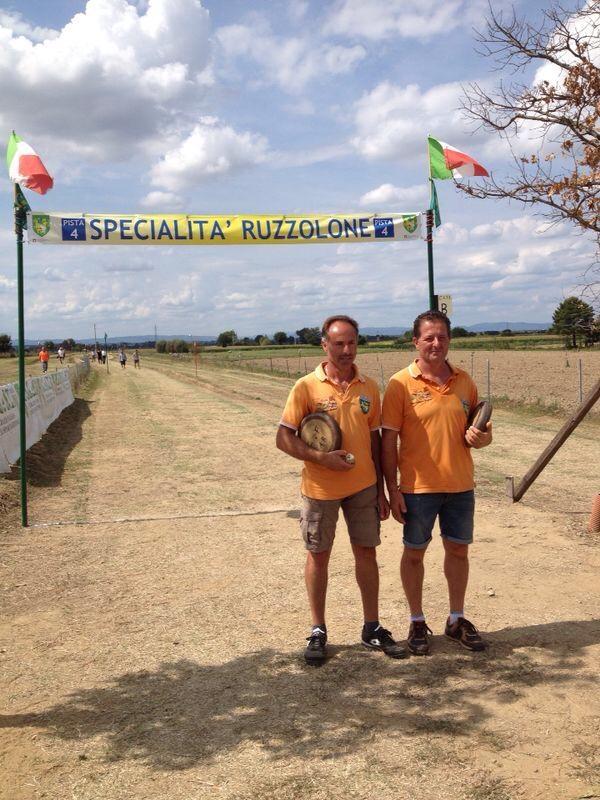 I cortonesi Ricci e Camilloni trionfano ai Campionati italiani di Ruzzolone