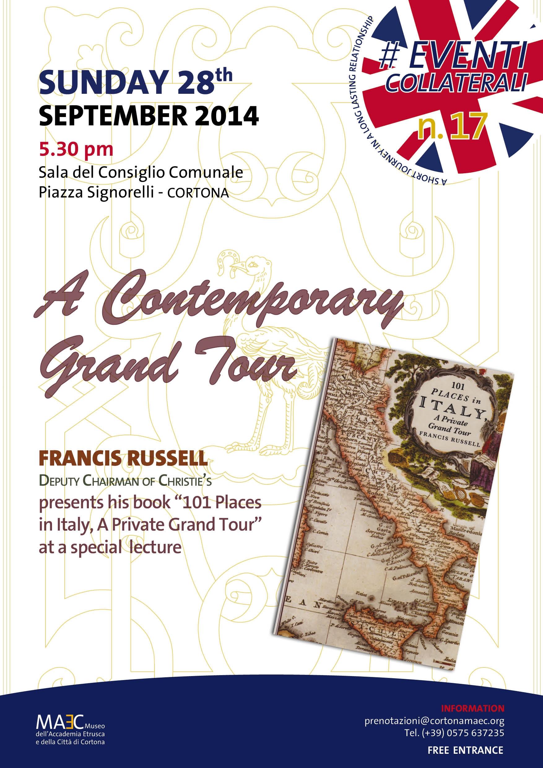 Appuntamento con Francis Russell a Cortona