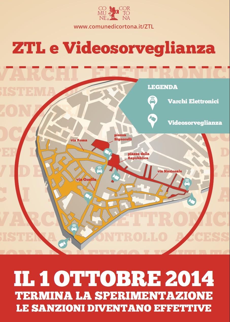 Cortona: dal 1° Ottobre ZTL gialla e rossa a pieno regime, multe per chi trasgredisce