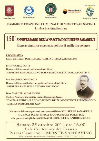 Monte San Savino dedica una giornata di studio a Giuseppe Sanarelli